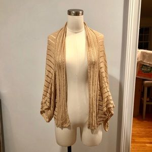 ANTHROPOLOGIE like new caramel colored cardigan